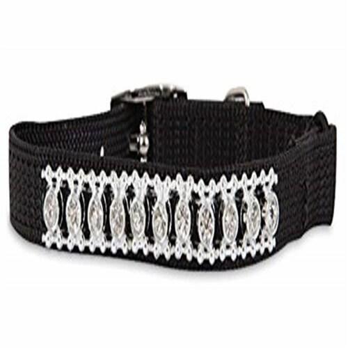 Aspen Pet 11392 8 x 0.37 in. Adjustable Jewel Cat Collar, Black Perspective: front