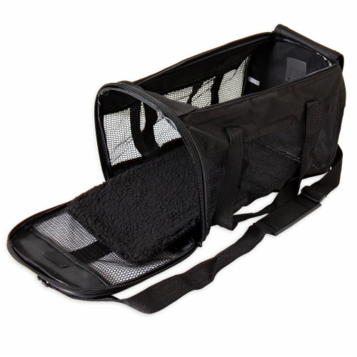 Petmate Soft Sided Medium Carrier - Black Perspective: front
