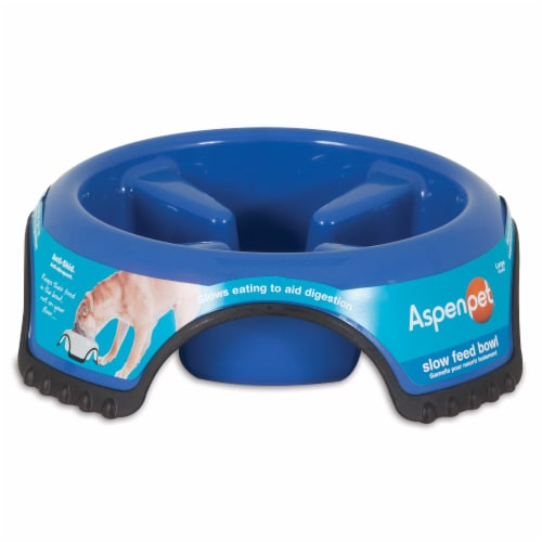 Aspen Pet Anti-Skid Slow Feed Bowl Perspective: front