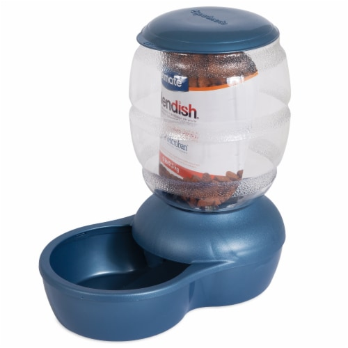 Petmate Replendish Blue Pet Feeding Dispenser Perspective: front