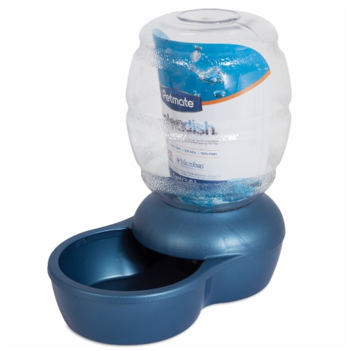 Petmate Replendish Blue Pet Water Dispenser Perspective: front