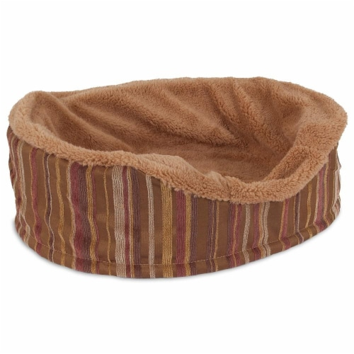 Aspen Pet Antimicrobial Oval Pet Bed Perspective: front