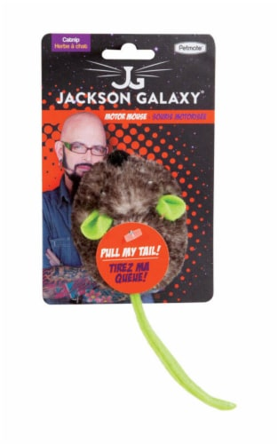 Jackson Galaxy Green/Gray Motor Mouse Plush Catnip Mouse Cat Toy Small 1 pk - Case Of: 1; Perspective: front