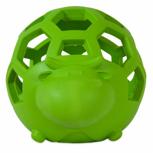 JW Pet Small Hole-EE Cow Dog Toy Ball Perspective: front