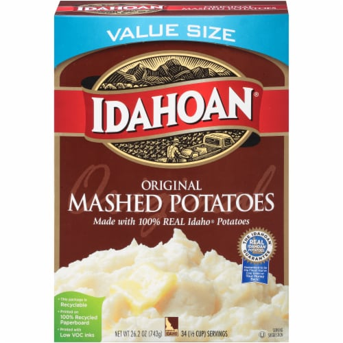 Idahoan Original Mashed Potatoes Value Size Perspective: front