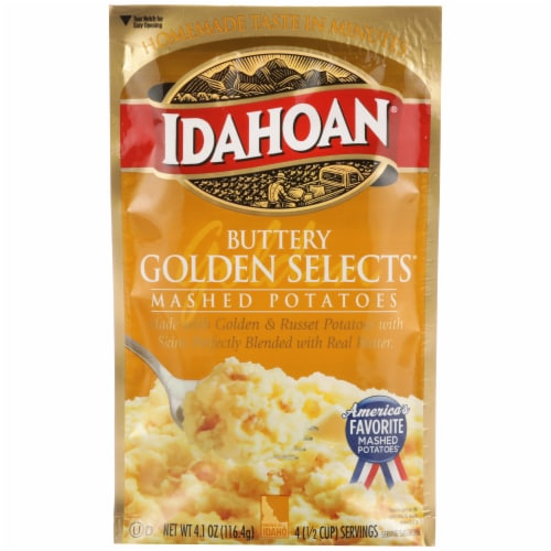 Idahoan Buttery Golden Selects Mashed Potatoes Perspective: front