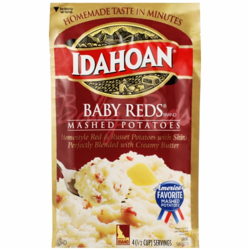 Idahoan Baby Reds Instant Mashed Potatoes Perspective: front
