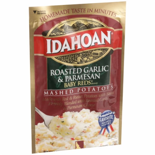 Idahoan Roasted Garlic & Parmesan Mashed Potatoes Perspective: front