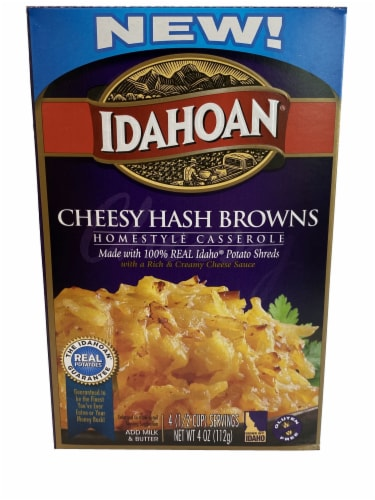 Idahoan Homestyle Cheesy Hash Browns Casserole Perspective: front