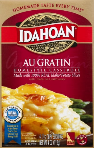 Idahoan Homestyle Au Gratin Casserole Perspective: front