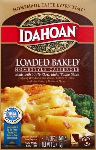 Idahoan Loaded Baked Homestyle Casserole Potatoes Perspective: front
