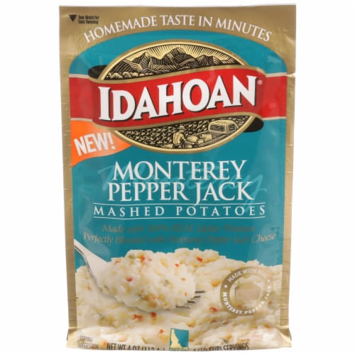 Idahoan Monterey Pepperjack Mashed Potatoes Perspective: front