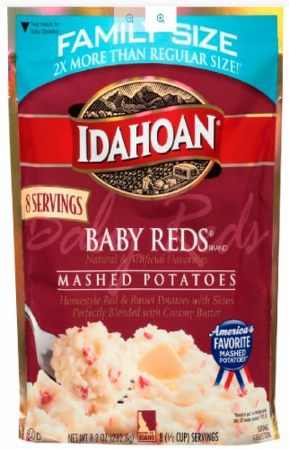 Idahoan Baby Red Mashed Potatoes Family Size Perspective: front