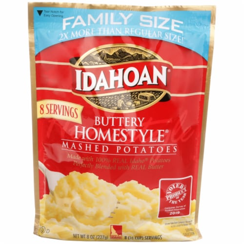 Idahoan Buttery Homestyle Instant Mashed Potatoes Family Size Perspective: front