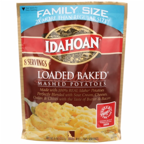 Idahoan Loaded Baked Mashed Potatoes Family Size Perspective: front