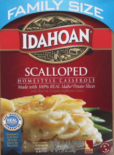 Idahoan Scalloped Potatoes Family Size Perspective: front