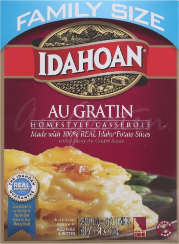 Idahoan Au Gratin Homestyle Casserole Potatoes Family Size Perspective: front