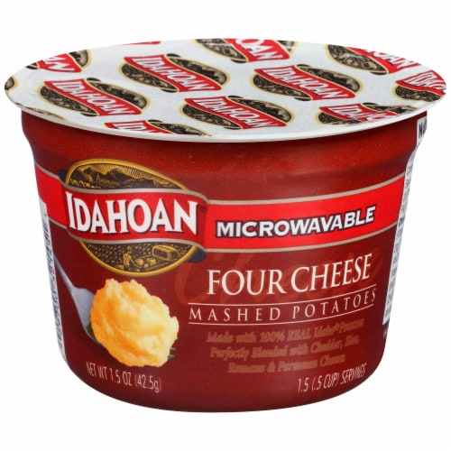 Idahoan Four Cheese Mashed Potatoes Perspective: front