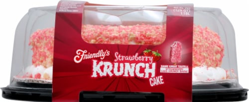 Friendly's Strawberry Krunch Cake Perspective: front