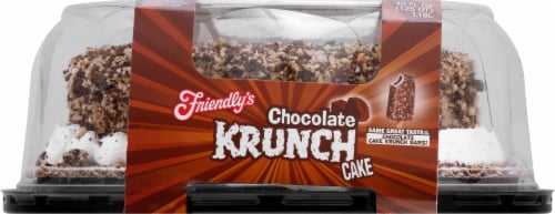 Friendly's Chocolate Krunch Ice Cream Cake Perspective: front