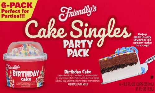 Friendly's Birthday Cake Singles Party Pack Perspective: front