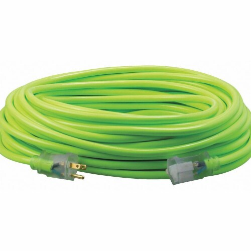 Southwire Extension Cord,12 AWG,125VAC,100 ft. L Perspective: front