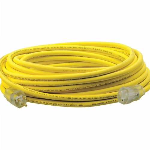Southwire Company Extension Cord,50ft,12Ga,15A,SJEOOW,Yel  3688SW0002 Perspective: front