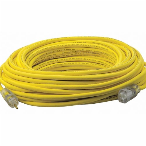 Southwire Company Extension Cord,100ft,12Ga,15A,SJEOOW,Yel  3689SW0002 Perspective: front