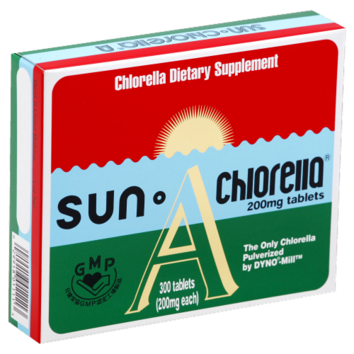 Sun Chlorella 200mg Tablets Perspective: front