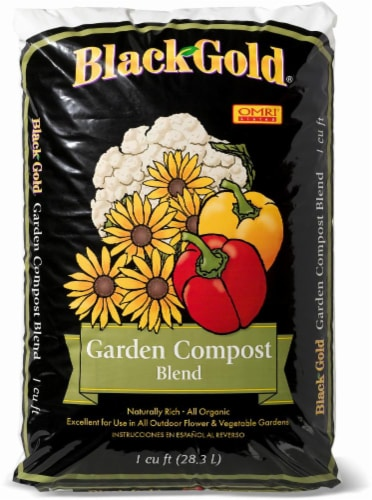 Black Gold® Organic Garden Compost Blend Perspective: front
