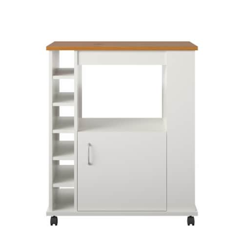 Williams Kitchen Cart, White Perspective: front