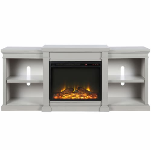 Manchester Electric Fireplace TV Stand or TVs up to 70 , Gray Perspective: front