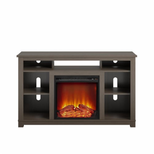 Edgewood Fireplace TV Stand for TVs up to 55 , Weathered Oak Perspective: front