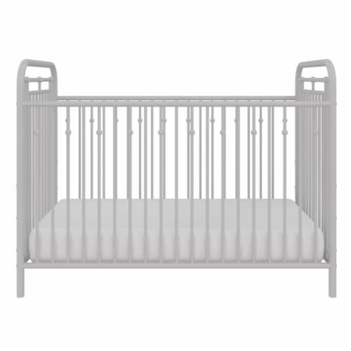 Little Seeds Monarch Hill Hawken Metal Crib, Dove Gray Perspective: front