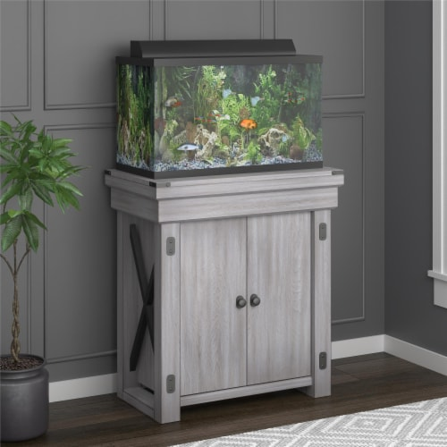 Wildwood 20 Gallon Aquarium Stand, Rustic White Perspective: front