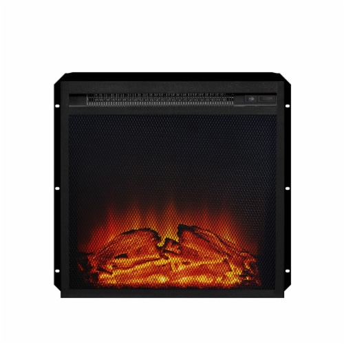 Ameriwood Home 18  x 18  Mesh Front Electric Fireplace Insert, Black Perspective: front