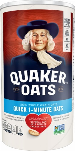 Quaker Oats 1-Minute Oatmeal Perspective: front