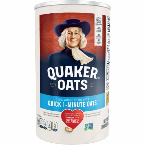 Quaker Oats 1 Minute Oatmeal Perspective: front