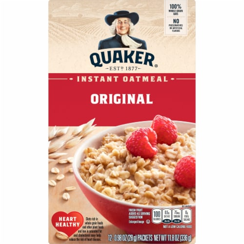Quaker Breakfast Cereal Original Instant Oatmeal Packets Perspective: front