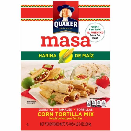 Quaker Corn Tortilla Mix Masa Harina de Maiz Perspective: front