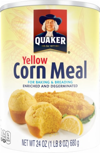 Quaker Yellow Corn Meal For Baking Perspective: front