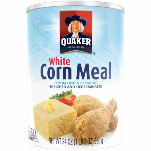 Quaker White Corn Meal Flour For Baking Perspective: front