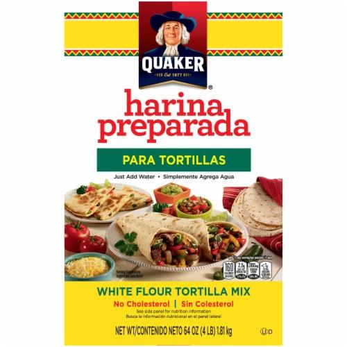 Quaker Harina Preparada White Flour Tortilla Mix Perspective: front