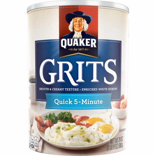 Quaker Quick 5-Minute White Hominy Grits Perspective: front