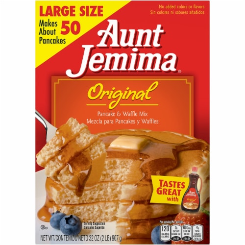 Aunt Jemima Original Pancake and Waffle Mix Perspective: front