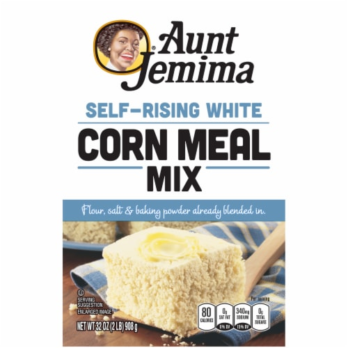 Aunt Jemima White Corn Meal Self Rising Flour For Baking Perspective: front