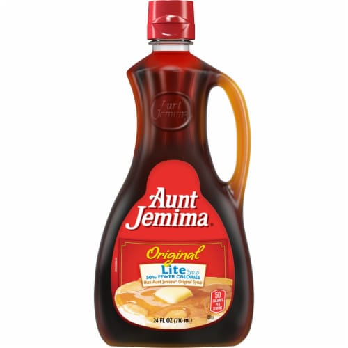 Aunt Jemima Original Pancake and Waffle Breakfast Syrup Perspective: front
