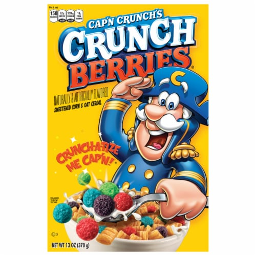 Cap'N Crunch Crunch Berries Sweetened Corn & Oat Cereal Perspective: front