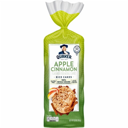 Quaker Apple Cinnamon Rice Cakes Perspective: front