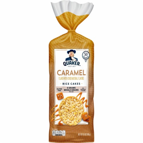 Quaker Caramel Flavor Whole Grain Rice Cakes Perspective: front